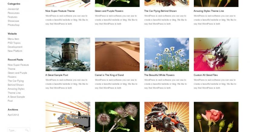 13 bezpłatnych i minimalistycznych skórek do WordPress'a