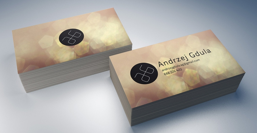 Mock-up – wizytówki / business cards – 90×50 mm