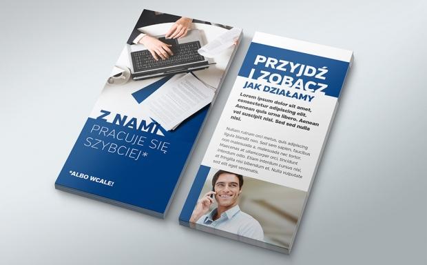 Mock-up – ulotka / leaflet – 99×210 mm