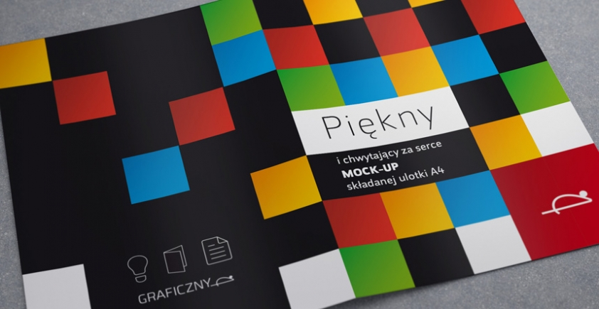 Mock-up – Ulotka / Leaflet – 2 x A4