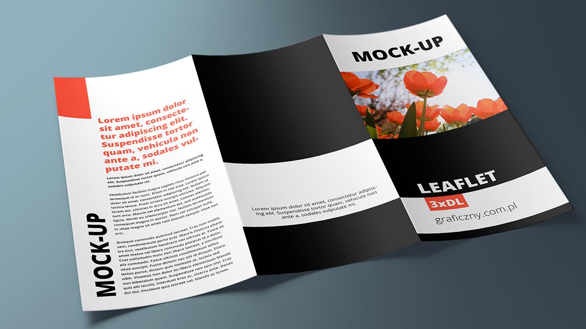 Mock-up – Leaflet 3 x DL