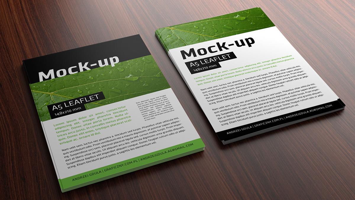 Mock-up - Leaflet - A5