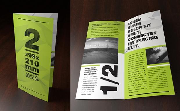 Mock-up – Ulotka / Leaflet – 2 x 99×210