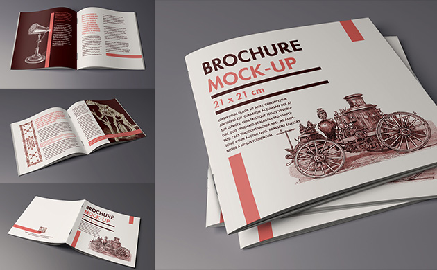 Mock-up – Katalog, broszura / Folder, brochure – 210×210 mm