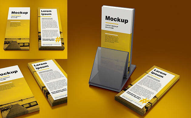Mock-up – Ulotka DL / DL Leaflet  – 99×210 mm
