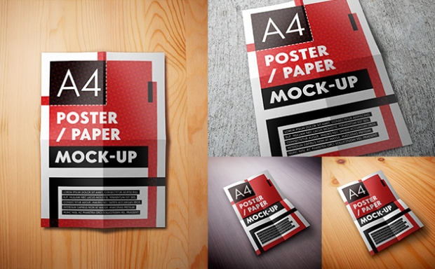 Mock-up – Plakat A4 / A4 Poster