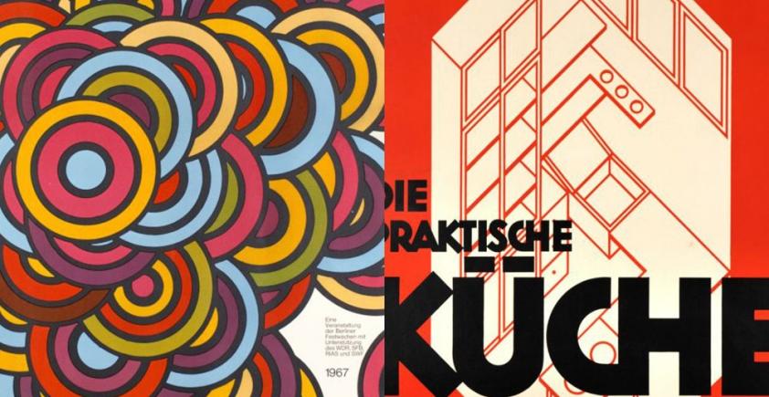 Inspirująca kolekcja plakatów vintage