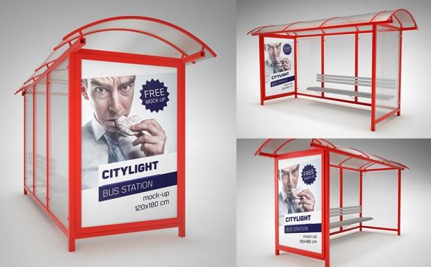 Mockup / Citylight / Przystanek / Bus Station