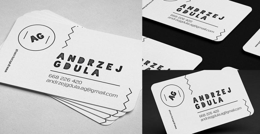 Wizytówka – zaokrąglone rogi /  Round corner business card
