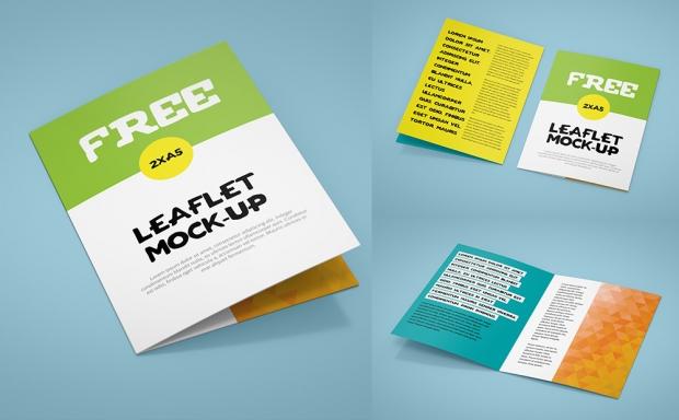 Mockup / Ulotka 2xA5 / Leaflet – Brochure 2xA5
