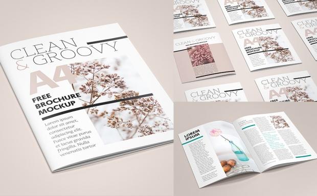 Mockup / Katalog – Broszura / Brochure A4