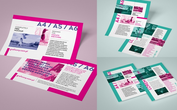Mockup / Ulotka – zestaw / Leaflet set