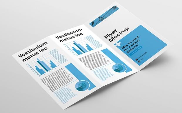 Mockup / Ulotka DL – Z / Z fold flyer