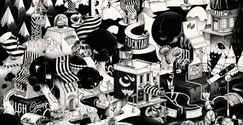 mc bess – ilustracja, plakat, typografia