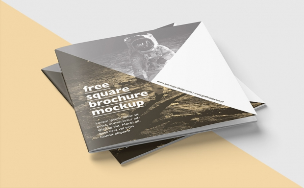 Mockup / Broszura 21×21 / Square Brochure