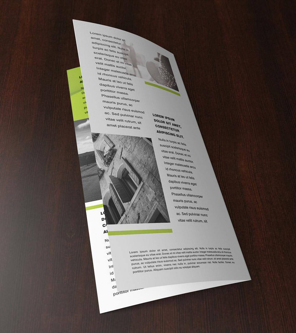 Mock-up – Leaflet 2 x 99x210