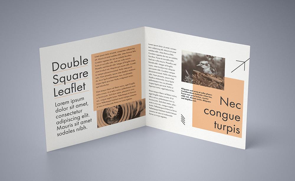 Mockup - Double Square Leaflet
