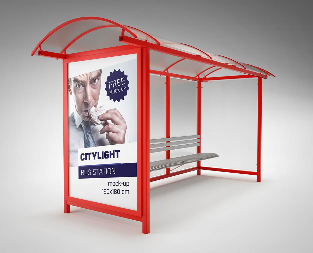 Mock-up - Bus Station Citylight