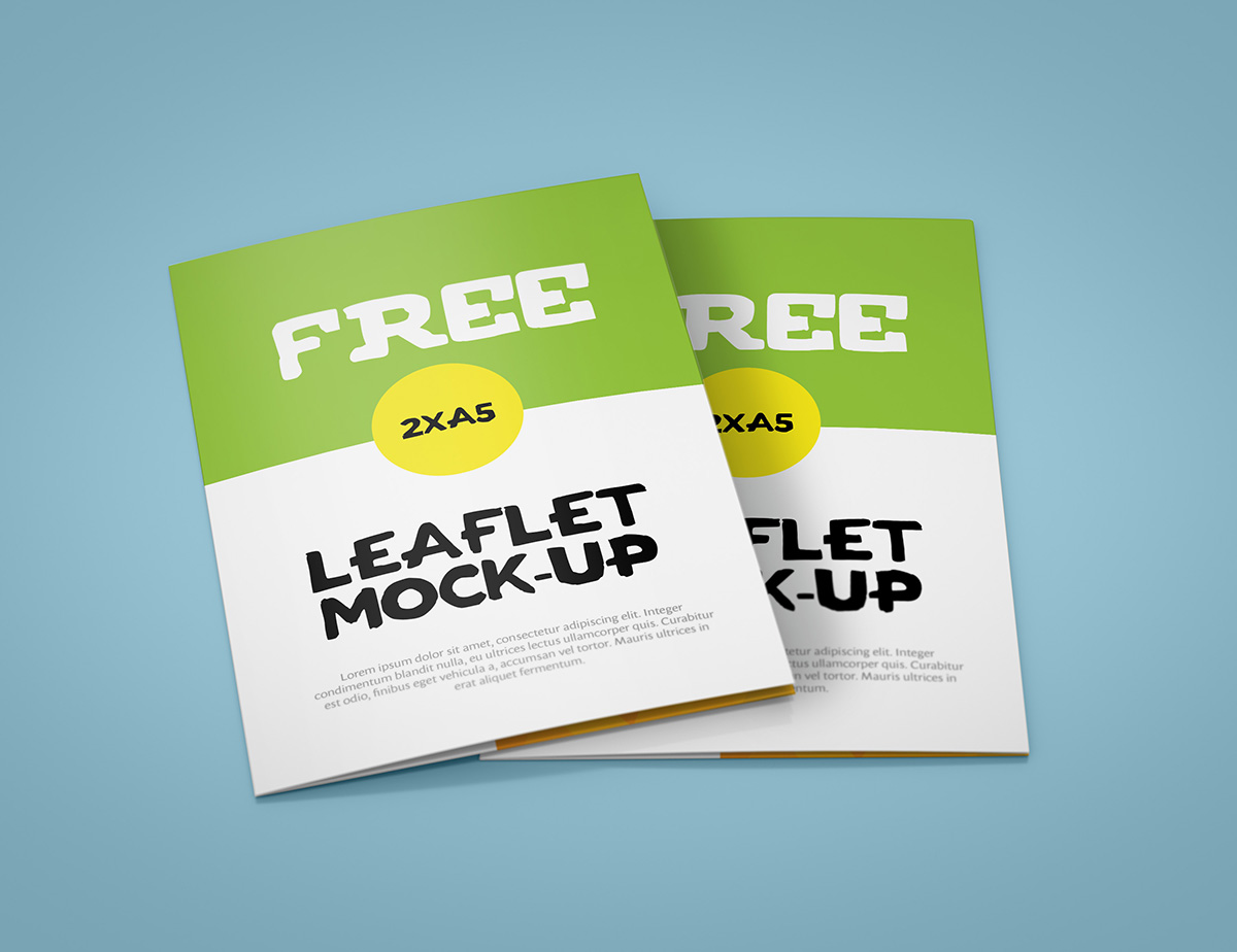 2 x A5 Leaflet Mock-up