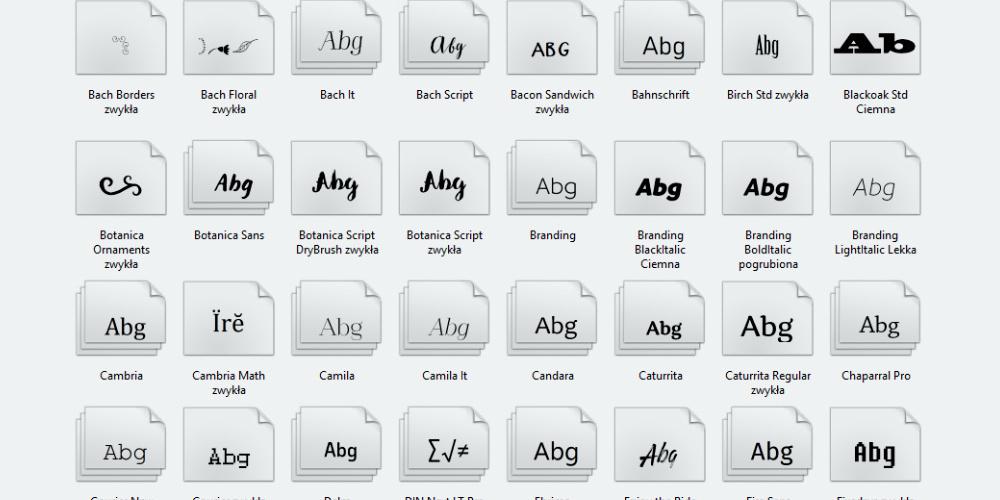 Budujemy kolekcje fontów - poradnik