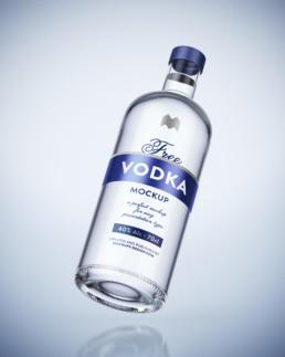 Wizualizacja butelki wódki