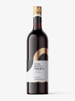 Wizualizacja butelki wina